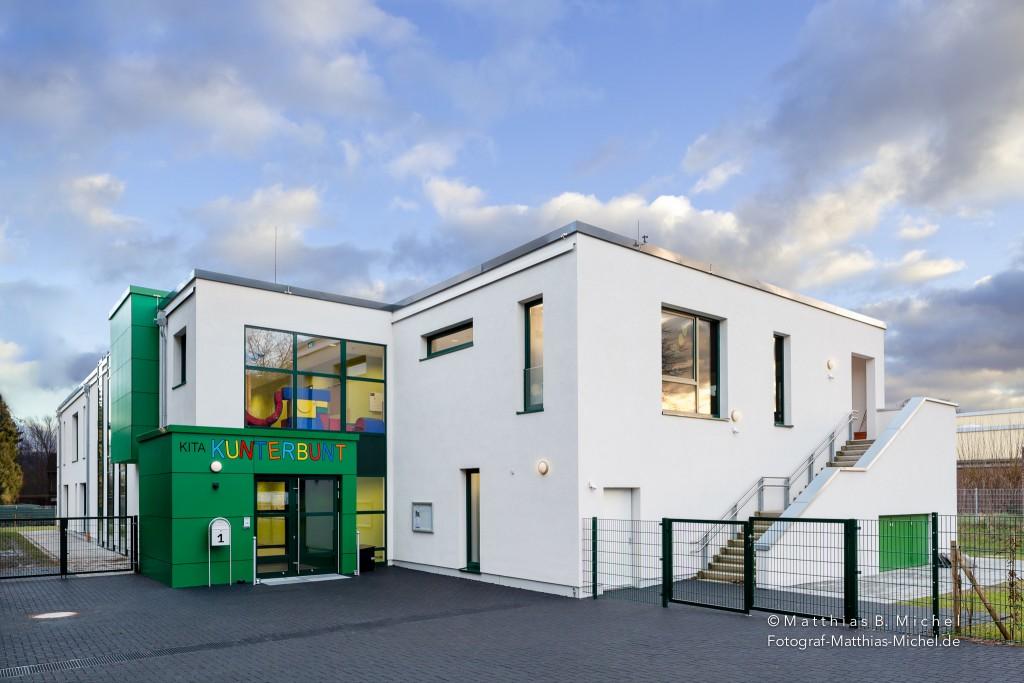 Ein Architekturfoto vom Kindergarten in Grevenbroich.